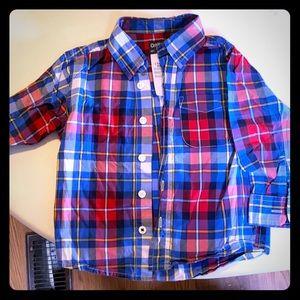 Oshkosh long sleeve button up shirt